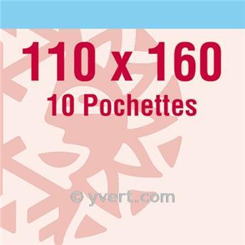 Pochettes double soudure - Lxh:110x160mm (Fond transparent)